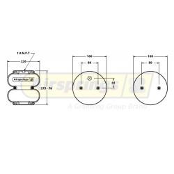 AIRSPRING CONVOLUTED - MERITOR / GRANNING | 21221393, 895N, MLF7184