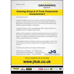 Granning Group & J4 Truck Components Announcement