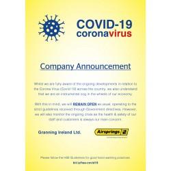 Granning Group update in relation to Covid-19 Coronavirus