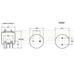 AIRSPRING COMPLETE - MERITOR / ROR / WEWELER 21222442, 4157NP05, US07074C