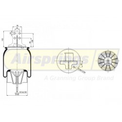 AIRSPRING COMPLETE - IVECO STRALIS REAR LHS   41270465
